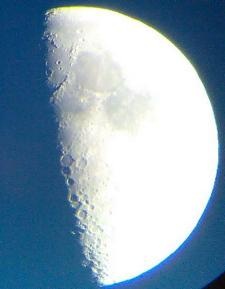 Moon with mobile phone