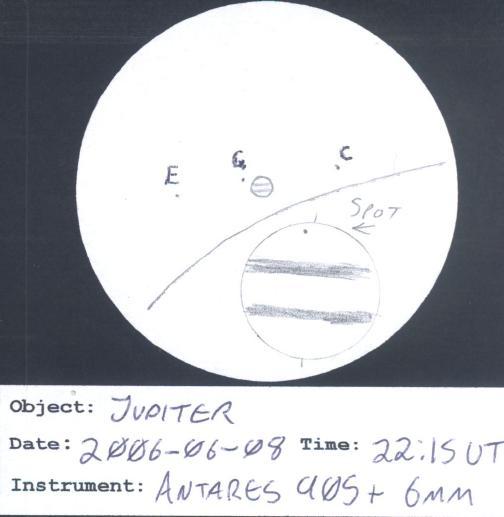 Rough sketch of my view of Jupiter