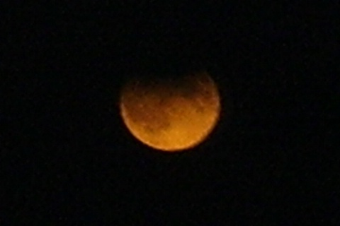 Partial Lunar Eclipse. Around 19:07 UT I used the 10x50 binoculars to have a