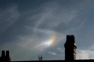 Sundog to the left of Sun